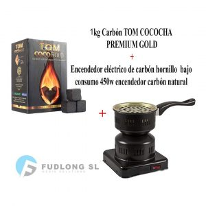 Pack 1kg CARBÓN y HORNILLO 450W (B079M3VY8P)